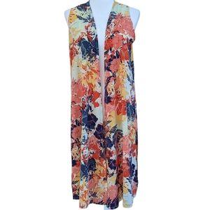LuLaRoe Floral Joy Cardigan Vest - S